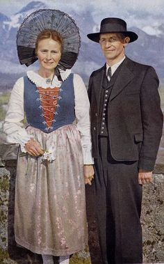 folk costume from the Swiss canton of St. Gallen.