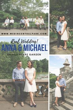 Anna and Michael's Intimate Wedding in the Shakespeare Garden, Central Park, New York. with parents and kids. almost elopement! destination wedding from Australia. Top Wedding Trends, Wedding Themes, Wedding Tips, Wedding Styles, Wedding Photos, Wedding Locations, Wedding Vendors, Central Park Weddings, Local Gym
