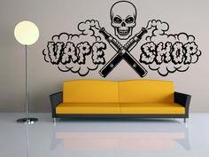 Removable Wall Room Decor Art Vinyl Sticker Mural Decal Vaporizer E Сigarettes Vaping Vape Service Vapor Shop Bar Smoking Accessories FI949