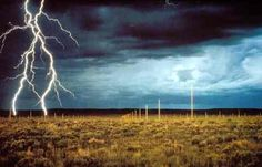 The Lightning Field / De Maria-- 400 stainless steel poles installed as lightning rods. Catron County, NM
