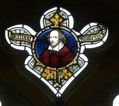 Oxford, Balliol College New Library windows.  William Shakespeare