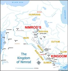 Nimrod in the Bible map | ... Images and Notes (Picture Study Bible - Genesis) Bible History Online