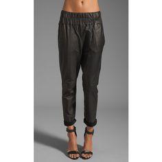 Friend of Mine Tyson Leather Pants Pants (410 AUD) ❤ liked on Polyvore