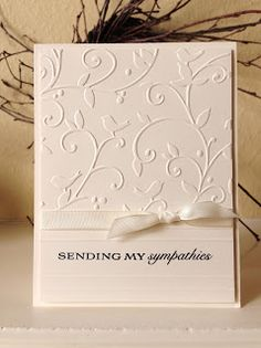 sympathy cards sayings / sympathy cards ; sympathy cards what to write in ; sympathy cards sayings ; sympathy cards stampin up ideas ; Roses Pink, Sympathy Card Messages, Paper Cards, Cards Diy, Embossed Cards, Stamping Up Cards, Get Well Cards, Greeting Cards Handmade, Wedding Cards Handmade