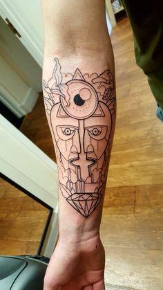 Pink Floyd Tattoo by Erin of Snakebite Tattoo, Dublin Leo Tattoos, Badass Tattoos, Small Tattoos, Sleeve Tattoos, Tatoos, Tool Tattoo, Arm Band Tattoo, Floyd Leg, Led Zeppelin Tattoo