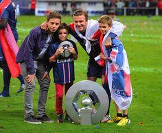 David Beckham - Paris Saint-Germain FC v Stade Brestois 29