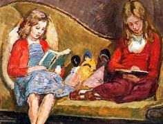 Amaryllis, 1950   Lytton Strachey   A girl reading, 1932   Adrian Stephen and Angelica Bell at Charleston, 1935   Olivia Bell, 1952   Amaryl...