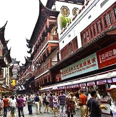 Fangbang Road in Shanghai's Huangpu district is also called Old Shanghai Street.  The street is adjacent to City God Temple and lined up with Shanghai's first banks, jewellery stores, trading centres, theatres, teahouses and restaurants.