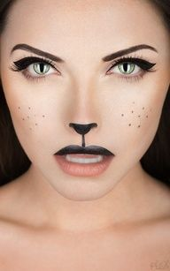 cute cat makeup: I bet this would be fun for Halloween