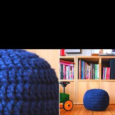 finally found a crochet pouf pattern! from http://www.pickles.no/puff-grannys-baby-crochet-po/