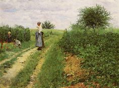Erik Theodor Werenskiold, Picking Flowers