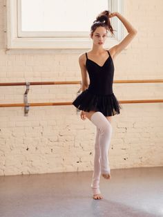 Magnolia Dance Dress | Super stretchy bodysuit perfect for any dance routine with an irresistibly comfortable next-to-skin fit and breathable quick dry liner to keep you cool while you move. Attached tulle skirt adds an ultra femme feel. Adjustable straps for an easy, comfortable fit.
