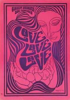 Haight-Ashbury San Francisco Love Love Love (1967) Art.Clifford Charles Seeley.
