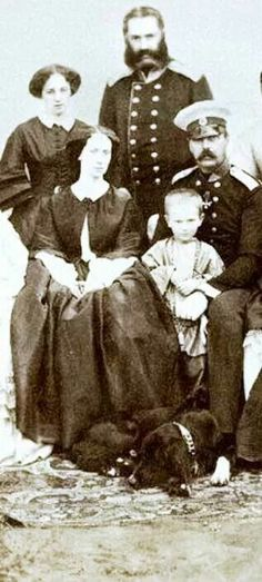 """Tsar Alexander II of Russia and Empress Maria Alexandrovna of Russia with their fifth son,the Grand Duke Sergei Alexandrovich Romanov of Russia.    """"AL"""""""