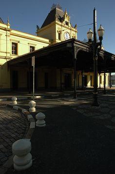 Estação Valongo, no centro histórico de Santos, hoje funciona com secretaria de turismo.