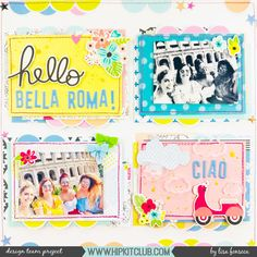 My layout for friday's sketch challenge 😊😋 . Bella Roma, My Scrapbook, Scrapbook Layouts, Hip Kit Club, Scrapbooks, Lisa, Challenges, Frame, Projects