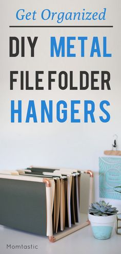 DIY file folder hanger tutorial for your office