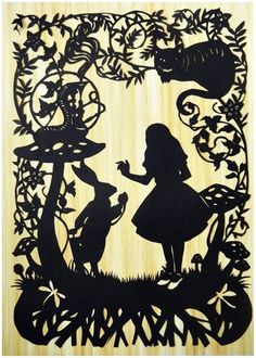 Alice in wonderland papercut by SomethingtoLove1 on Etsy