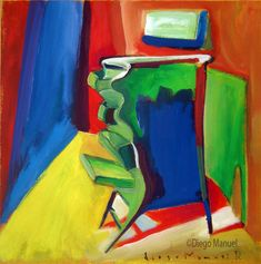 Cajonera verde , acrylic on canvas, 44 x 41 cm. 2000 by artist Diego Manuel