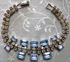 "Rhinestone bracelet ""1950's"""