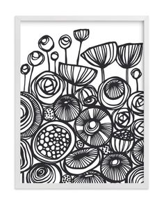"""""""Pop Art Flowers"""" - Art Print by Gill Eggleston in beautiful frame options and a variety of sizes."""