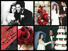 Elvis and Priscilla Presley wedding May 1st 1967 -- love these colors for November wedding bouquet and centerpieces