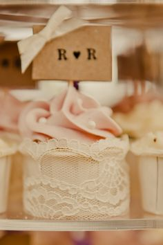 cupcakes rapped in lace