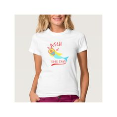 Mermaid Fun Catch Of The Day Novelty Graphic Shirt (£20) found on Polyvore featuring women's fashion