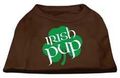 Irish Pup Screen Print Shirt Brown Sm (10)