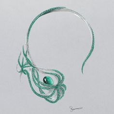 Muzo Emerald at Baselworld 2016 - Alain.Truong A special collection of Muzo Emerald jewellery has been designed to showcase these precious stones by designers including Shaun Leane. Emerald Necklace, Emerald Gemstone, Emerald Jewelry, Emerald Rings, Emerald Green, Crystal Necklace, Diamond Rings, Pearl Earrings, Jewelry Design Earrings