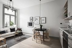 small: kitchen-living room