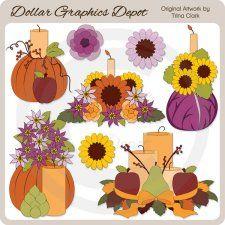 Autumn Display - Clip Art