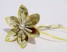 Handmade Single Flower Boutonniere- groom, best man, wedding accessory | Danaspaperflowers - Wedding on ArtFire