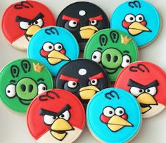 Angry Bird Cookies @Robyn Curry- wish me luck!