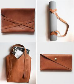 New Mexico based leather crafter Julia spends her days happily constructing sleek (but always...