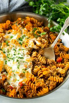 Jump to Recipe Print Recipe KF Dinner just got a whole lot easier and more delicious with this Skinny Lasagna Skillet recipe. A one pan pasta dish full of whole wheat pasta, ground turkey, and tomato sauce, all topped with melted cheese. This dinner option is a real winner in my home. The entire family loves …