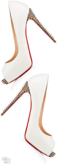 Brilliant Luxury * Christian Louboutin ~ New Very Prive Spikes Kid 120