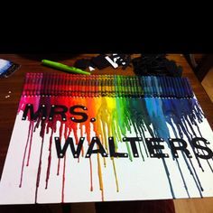 Melted crayons :)