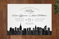 Big City - New York City Wedding Invitations by Hooray Creative at minted.com