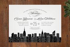 Big City - New York City Wedding Invitations by Hooray Creative at minted.com
