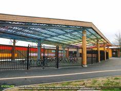 Auvents polycarbonate - Collège P.Mendes-France, Arques