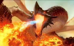 Fire Dragon - Fire Serphent.  I like the length of this Dragon's talons!