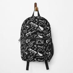 White Backpack, Leather Backpack, Gold Backpacks, Funny Doodles, Doodle Patterns, Crystal Skull, Skull Print, Gym Stuff, Stuff To Buy