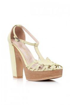 Mon Bel Ange Su Yeşili Mai Deri Topuklu Ayakkabı Lidyana
