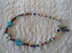 Anklet with Crosses by LandofBridget on Etsy, $8.00