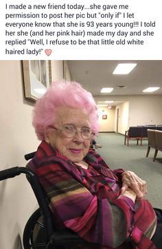 this little old lady is quite badass indeed.