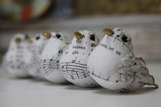 music sheet birds