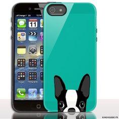 Housse rigide de protection pour iPhone 5S / 5 Terrier - coque iphone 5s. #coque #bulldog #animal #chien #iphone #5