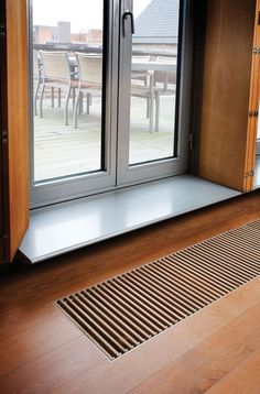 10 radiators to put and install in front of windows - Radiateur - Geothermal Energy Floor Design, House Design, Modern Window Treatments, Geothermal Energy, Inside Home, Tiny Apartments, House Siding, Home Technology, Underfloor Heating