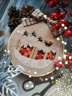Pre-Order NEW! Punch Needle & Primitive Stitcher 2020 Spring issue magazine counted cross stitch and punch needle patterns Punch Needle Patterns, Cross Patterns, Counted Cross Stitch Patterns, Cross Stitch Charts, Cross Stitch Designs, Cross Stitch Embroidery, Hand Embroidery, Cross Stitch Christmas Ornaments, Christmas Cross